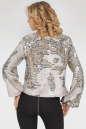 Блуза  молочного с серебром цвета 412.113 No2|интернет-магазин vvlen.com