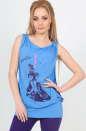 Блуза голубого цвета  1121.17 No0|интернет-магазин vvlen.com