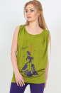 Блуза хаки цвета  1121.17|интернет-магазин vvlen.com