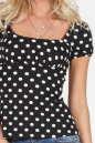Блуза черного цвета 579.17 No1|интернет-магазин vvlen.com