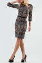 Офисное платье футляр черного с красным цвета 2087.55-1 No1|интернет-магазин vvlen.com