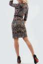 Офисное платье футляр черного с красным цвета 2087.55-1 No2|интернет-магазин vvlen.com
