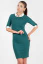 Офисное платье футляр зеленого цвета 1620.14 No0|интернет-магазин vvlen.com