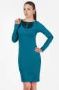Офисное платье футляр морской волны цвета|интернет-магазин vvlen.com