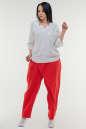 Брюки женские красного цвета it 604 No0|интернет-магазин vvlen.com