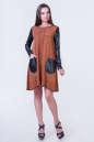 Повседневное платье футляр светло-коричневого цвета 2345.86 No1|интернет-магазин vvlen.com