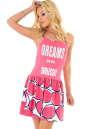 Летнее платье с пышной юбкой розового тона цвета 765.17 No0 интернет-магазин vvlen.com