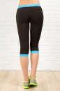 Бриджи для фитнеса черного с голубым цвета 2313.67 No2|интернет-магазин vvlen.com