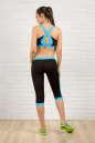 Бриджи для фитнеса черного с голубым цвета 2313.67 No5|интернет-магазин vvlen.com