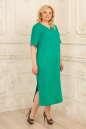 Летнее платье балахон бирюзового цвета No2|интернет-магазин vvlen.com