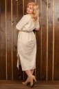 Платье  мешок молочного цвета  No5|интернет-магазин vvlen.com