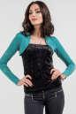 Болеро  голубого цвета 361.6|интернет-магазин vvlen.com