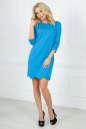 Повседневное платье футляр голубого с белым цвета 2503.47 No1|интернет-магазин vvlen.com