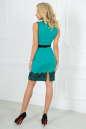 Коктейльное платье футляр мятного с черным цвета 1852-1.47 No3|интернет-магазин vvlen.com