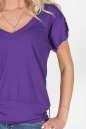 Женская футболка фиолетового цвета 790.17 No1|интернет-магазин vvlen.com