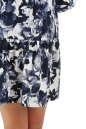 Повседневное платье с расклешённой юбкой синего с белым цвета No4 интернет-магазин vvlen.com