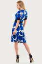 Летнее платье с расклешённой юбкой синего тона цвета 611.17 No3|интернет-магазин vvlen.com