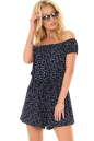 Женский комбинезон  шортами темно-синего цвета|интернет-магазин vvlen.com