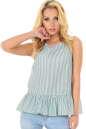Блуза зеленой полоски цвета|интернет-магазин vvlen.com