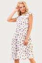 Повседневное платье с расклешённой юбкой белого цвета|интернет-магазин vvlen.com