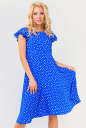 Летнее платье с расклешённой юбкой электрика цвета|интернет-магазин vvlen.com