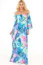 Летнее платье оверсайз сиреневого с голубым цвета 2423.5 No0|интернет-магазин vvlen.com