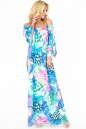 Летнее платье оверсайз сиреневого с голубым цвета 2423.5 No1|интернет-магазин vvlen.com