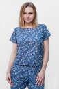 Блуза синего с розовым цвета No0|интернет-магазин vvlen.com