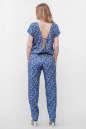Блуза синего с розовым цвета No4|интернет-магазин vvlen.com