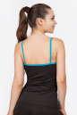 Майка для фитнеса черного с голубым цвета No2|интернет-магазин vvlen.com