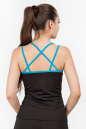 Майка для фитнеса черного с голубым цвета 2356.67 No2|интернет-магазин vvlen.com