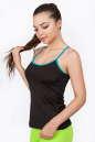 Майка для фитнеса черного с голубым цвета|интернет-магазин vvlen.com