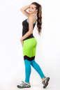Майка для фитнеса черного с голубым цвета 2355.67 No3|интернет-магазин vvlen.com