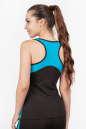 Майка для фитнеса черного с голубым цвета 2354.67 No2|интернет-магазин vvlen.com