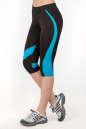 Бриджи для фитнеса черного с голубым цвета No2|интернет-магазин vvlen.com