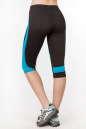 Бриджи для фитнеса черного с голубым цвета No3|интернет-магазин vvlen.com
