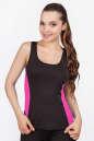 Майка для фитнеса черного с розовым цвета 2358.67 No0|интернет-магазин vvlen.com