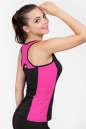 Майка для фитнеса черного с розовым цвета No1 интернет-магазин vvlen.com