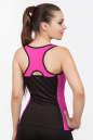 Майка для фитнеса черного с розовым цвета No2 интернет-магазин vvlen.com