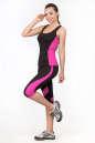Майка для фитнеса черного с розовым цвета No4 интернет-магазин vvlen.com