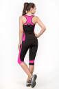Майка для фитнеса черного с розовым цвета No5 интернет-магазин vvlen.com