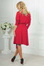 Повседневное платье с расклешённой юбкой кораллового цвета 2476.65 No5|интернет-магазин vvlen.com