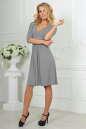Повседневное платье с расклешённой юбкой светло-серого цвета 2485.65 No1 интернет-магазин vvlen.com