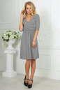 Повседневное платье с расклешённой юбкой светло-серого цвета 2485.65 No2 интернет-магазин vvlen.com
