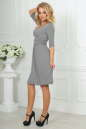 Повседневное платье с расклешённой юбкой светло-серого цвета 2485.65 No3 интернет-магазин vvlen.com