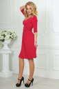 Повседневное платье с расклешённой юбкой кораллового цвета 2485.65 No3|интернет-магазин vvlen.com