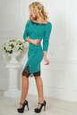 Коктейльное платье футляр мятного цвета 2479.47 No2|интернет-магазин vvlen.com
