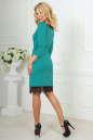 Коктейльное платье футляр мятного цвета 2479.47 No3|интернет-магазин vvlen.com