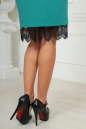 Коктейльное платье футляр мятного цвета 2479.47 No4|интернет-магазин vvlen.com