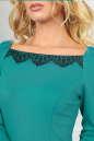 Коктейльное платье футляр мятного цвета 2479.47 No5|интернет-магазин vvlen.com